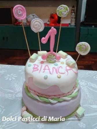 torta per primo compleanno bambina