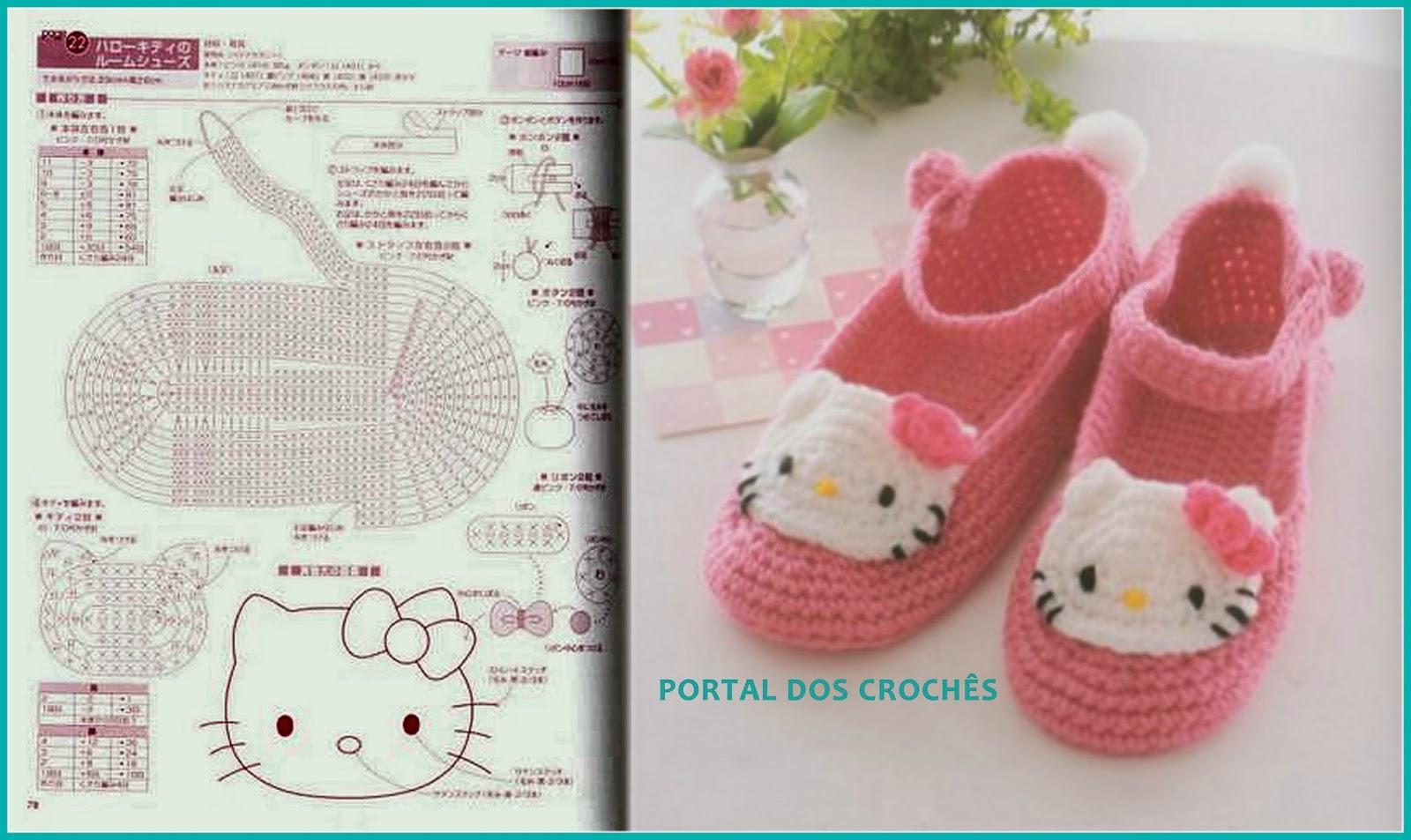 Hello Kitty Tapete Croche : DOS CROCH?S: SAPATINHO, LUVA E CACHECOL DE CROCH? COM A HELLO KITTY