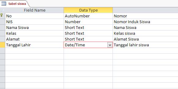 membuat database dengan access 2010