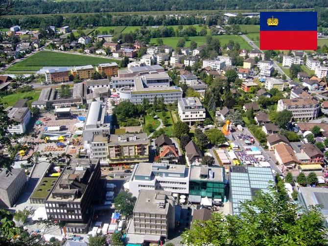 Liechtenstein - smallest country ranked 6th