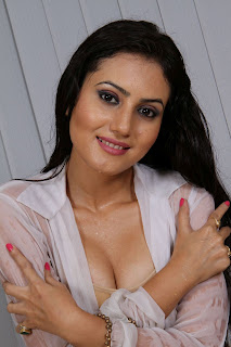 Anu Smrithi Hot Boobs press and Naval show in wet saree