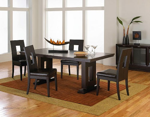 modern dining furniture set with european style model and layout by haiku designs
