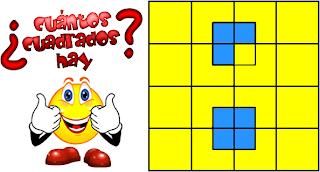Cuántos cuadrados, Cuántos cuadrados hay, descubre el número de cuadrados, retos matemáticos, problemas de ingenio, problemas de lógica, acertijos matemáticos, desafíos matemáticos, problemas para pensar