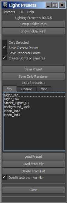 CGTalk | Script: Lighting preset tool for maya