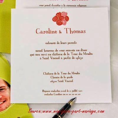 Invitation de mariage classique