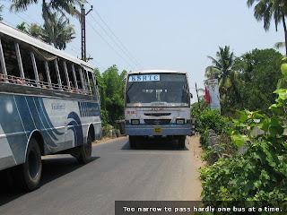 Narrow bridge at Nayarambalam