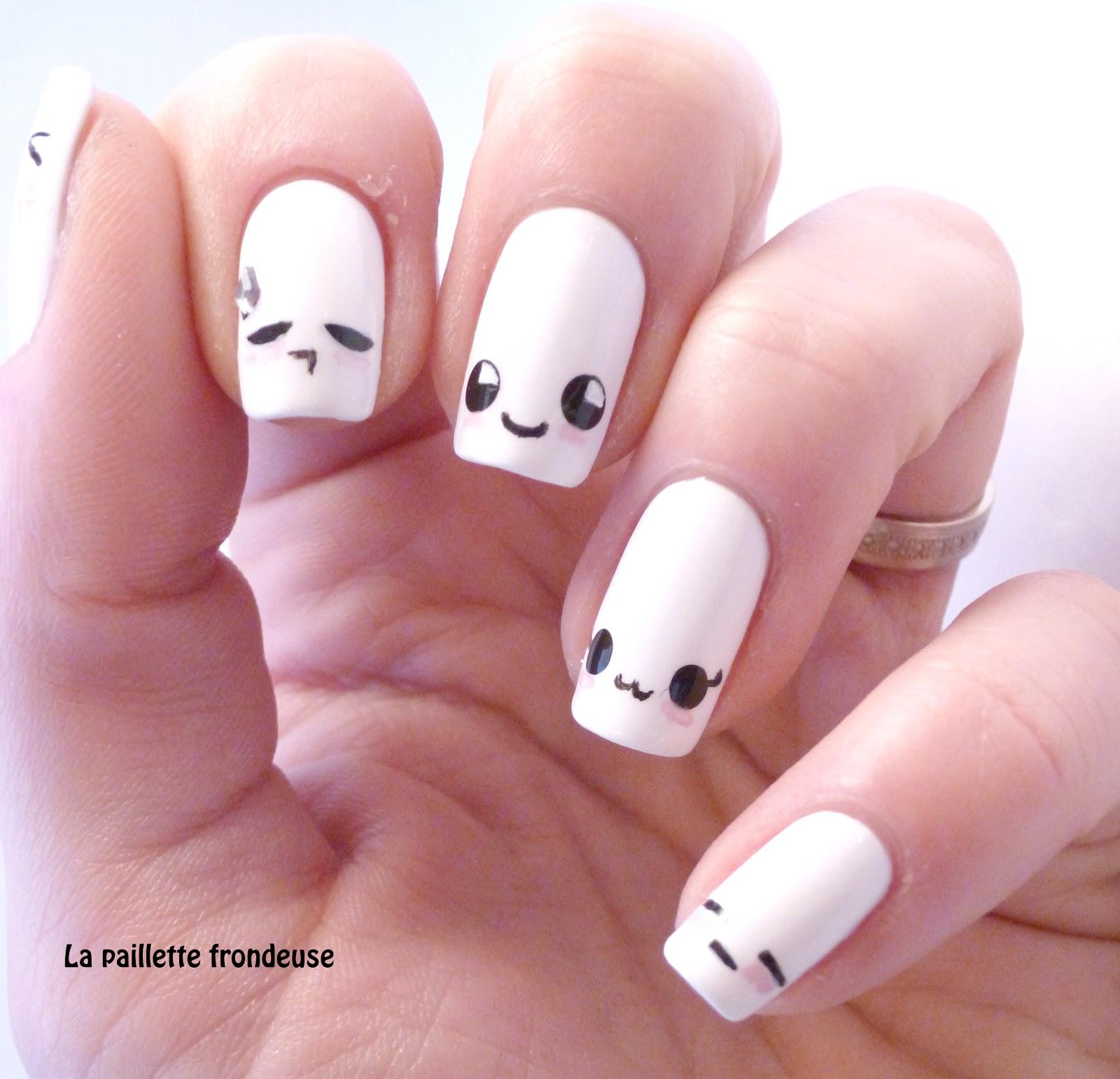 La paillette frondeuse: Sunday nail battle #42 // Kawaii nails moods