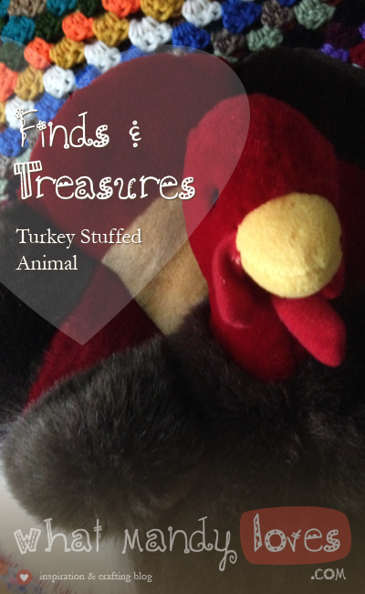 Finds & Treasures: Turkey Stuffed Animal via www.whatmandyloves.com