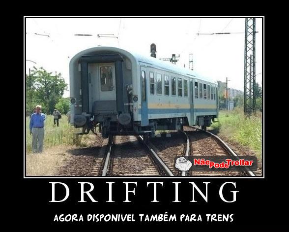 trem trilhos drifting