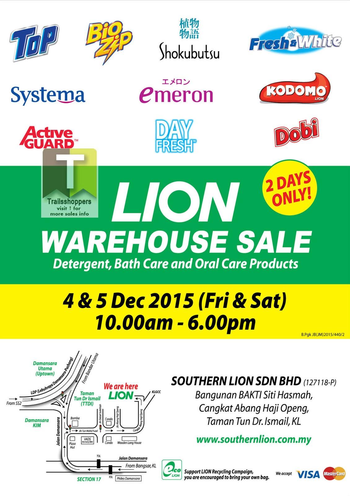 LION Warehouse Sale 4-5 DEC 2015 Malaysia Bio Zip Shokubutsu Dobi Kodomo