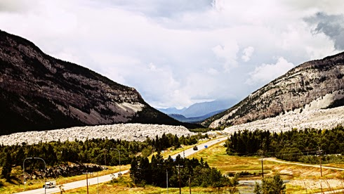 frank slide alberta travel photography series