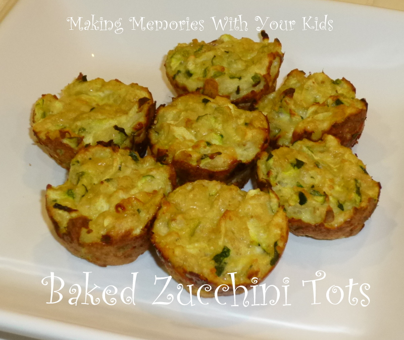 Baked Zucchini Tots - Making Memories With Your Kids
