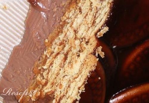Puding Cokelat Biskuit