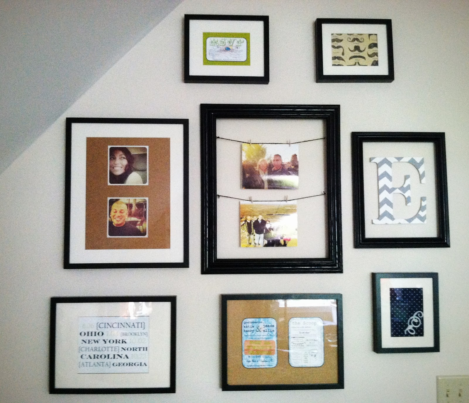 diy guestroom collage revolving guest frame