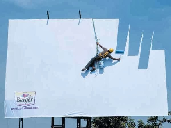 Optical Illusion Billboard For Berger Paints