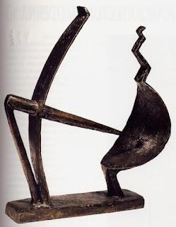 Hombre y mujer de Giacometti