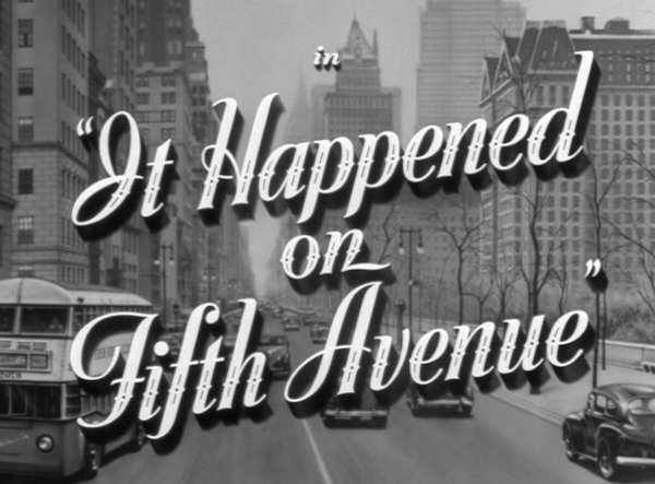 it happened on 5th avenue tcm schedule tonight