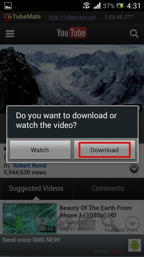 tubemate,youtube,downloader,application,android