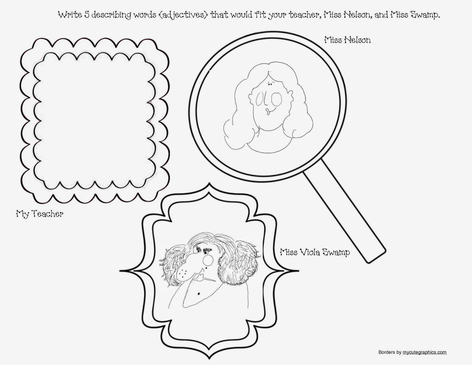 Worksheets Miss Nelson Is Missing Worksheets classroom freebies miss nelson is missing packet lots of adjective activities a great opportunity to discuss synonyms and antonyms because swamp are certainly oppositesqu