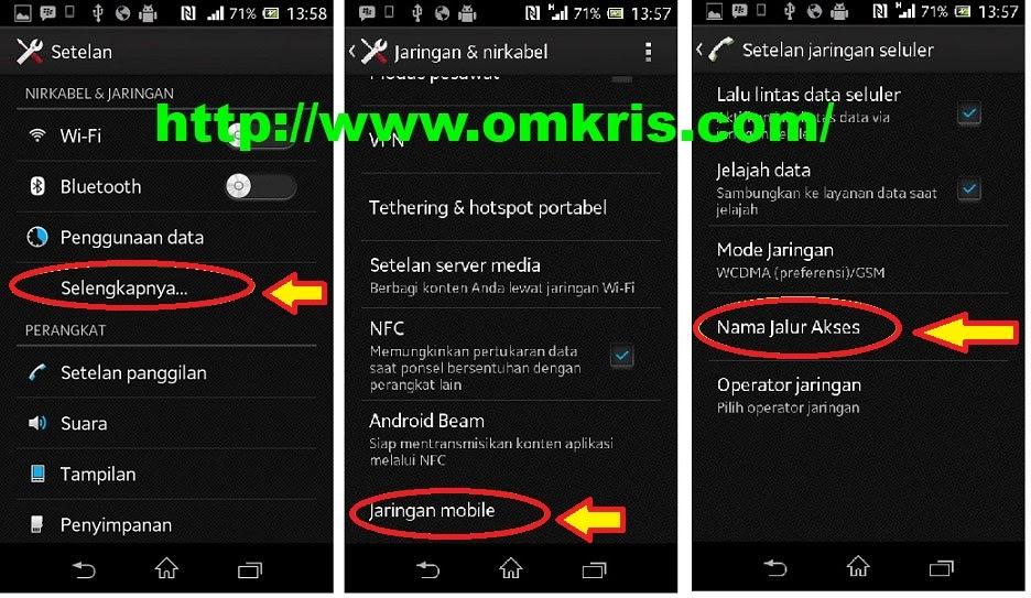 Cara Setting APN Android GSM