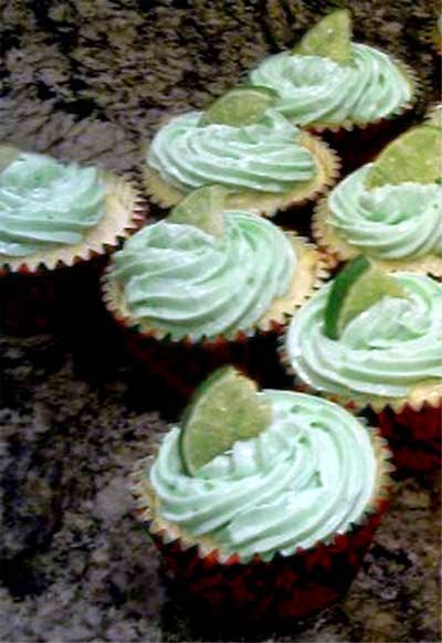 Cakes with Alcohol: Margarita Cupcakes with Tequila