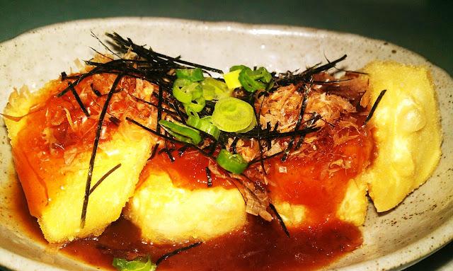 spicy agedashi tofu, koi sushi port coquitlam