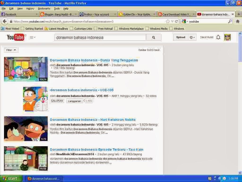 Search di youtube