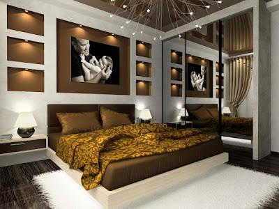 foto de dormitorio chocolate