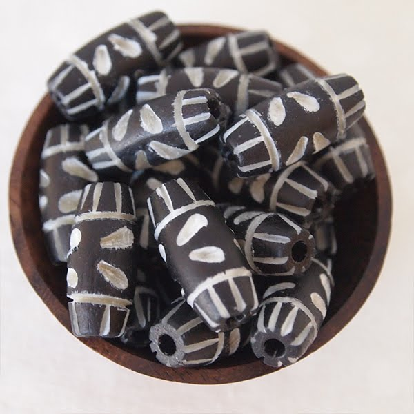 Carved Bone Beads