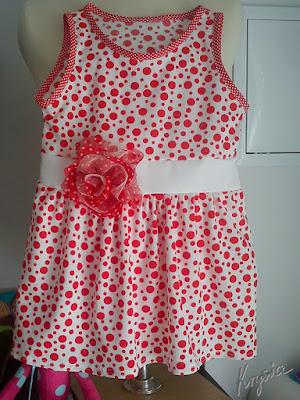 Krysia to uszyła - letnia sukienka w groszki