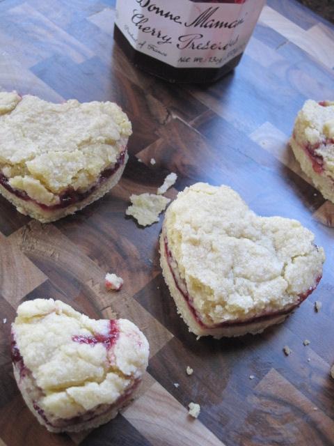 Stirring the Pot: Cherry Jam Shortbread Cookies