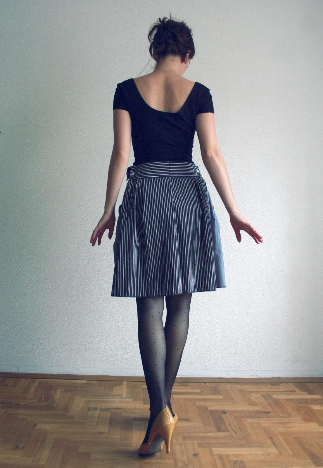 Как сшить юбку из рубашки 88