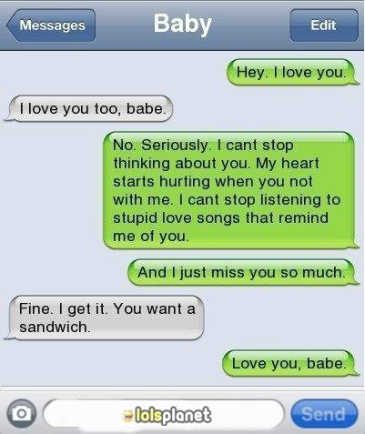 what are the best relationship ? a funny iphone conversation between couple where they shows clearly what type of relationships are perfect .