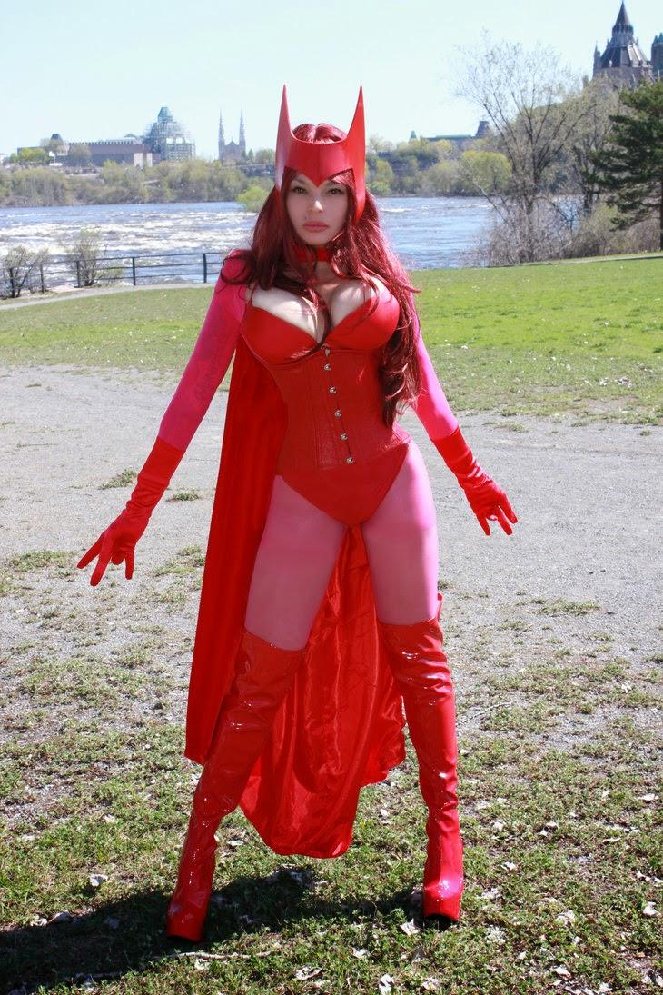 cosplay scarlet witch bruja escarlata