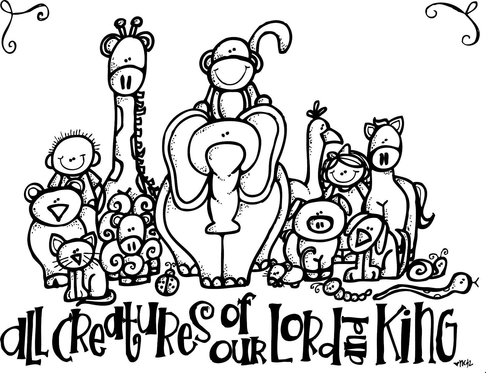 Melonheadz Lds Illustrating All Creatures Lds Coloring Page