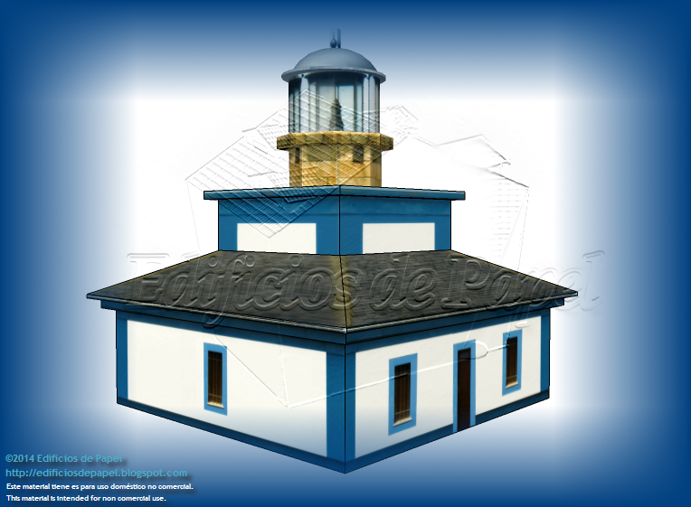 Illa Pancha Lighthouse Paper Model built in 1859