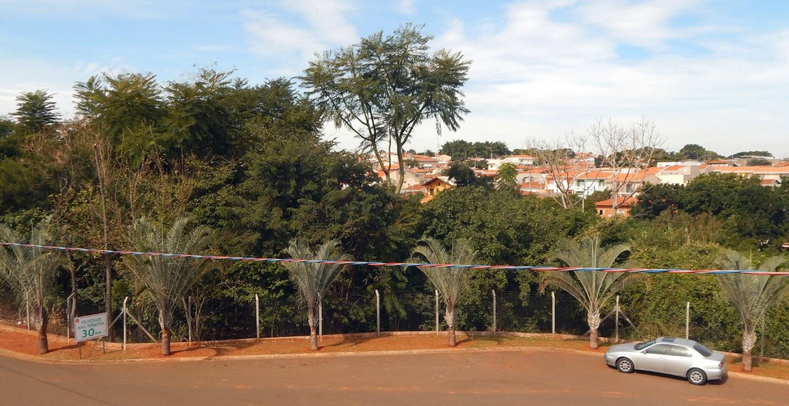 A visão, a partir da sacada frontal desta casa, justifica o nome do loteamento fechado: Jardim Alto da Boa Vista. O empreendimento conta com uma mata ciliar preservada por lei.