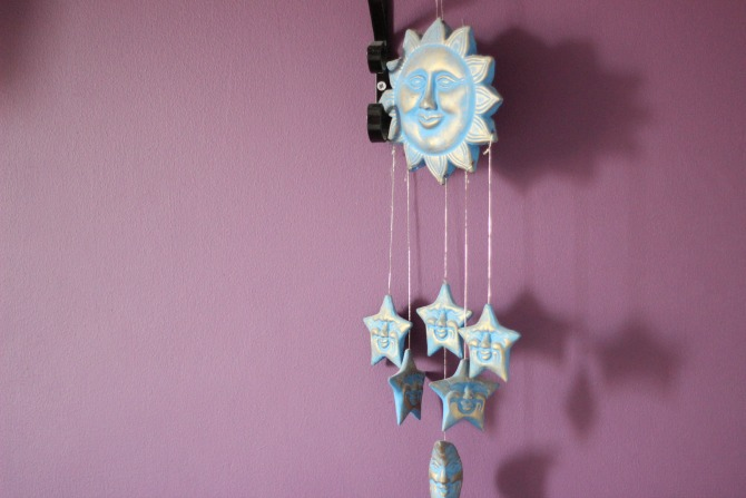 Sun and stars ornament