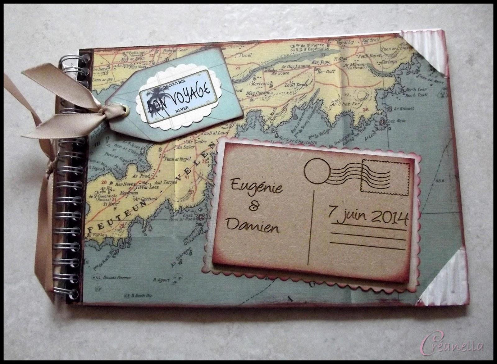 Extrêmement Créanella atelier créatif: Livre d'or thème voyage LV72