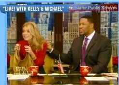 Kelly Ripa's secret hair - click the photo to learn about her Hair Extension on a wire!