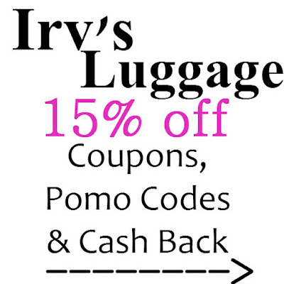 Irv's Luggage Coupon January 2016, February 2016