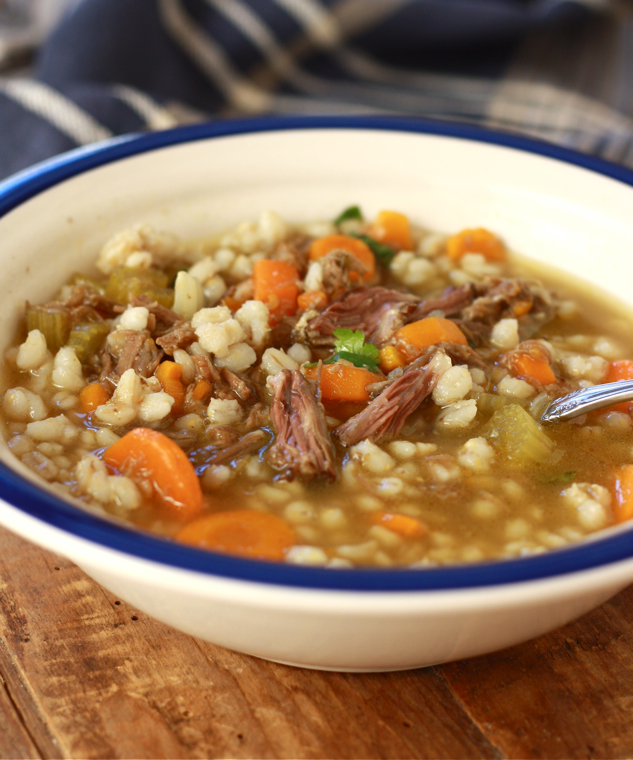 Asian-style Beef Barley Soup by SeasonWithSpice.com