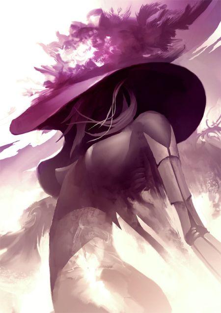 Kekai Kotaki ilustrações arte conceitual fantasia mulheres