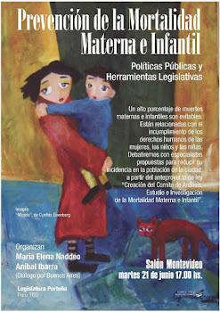 Martes 21 de junio 17 hs. Perú 160  Debate sobre prevención de la mortalidad materna e infantil