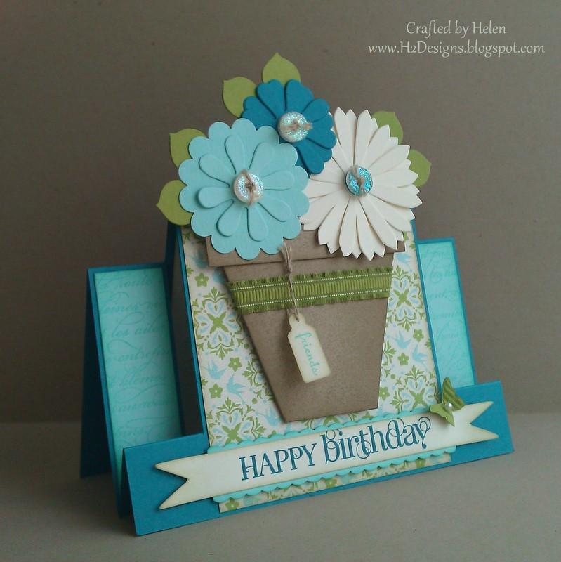 H2 Designs: Mini Flower Pot Tutorial