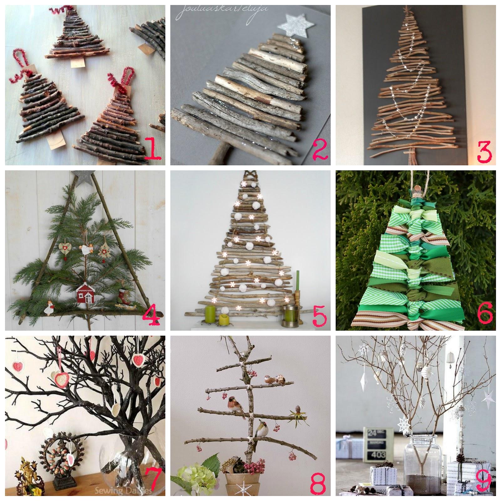 Decorazioni di natale fai da te con i rami secchi - Decorazioni natalizie legno fai da te ...