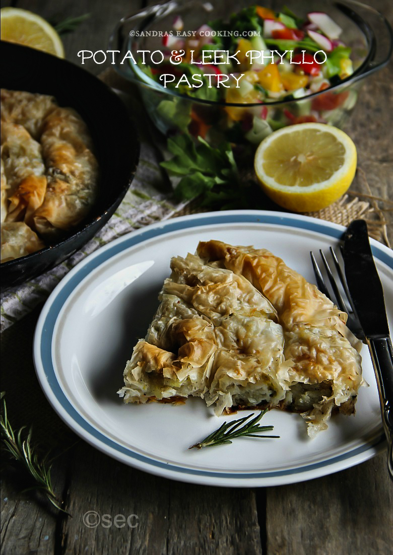 Potato and Leek Phyllo Pastry #TopTater