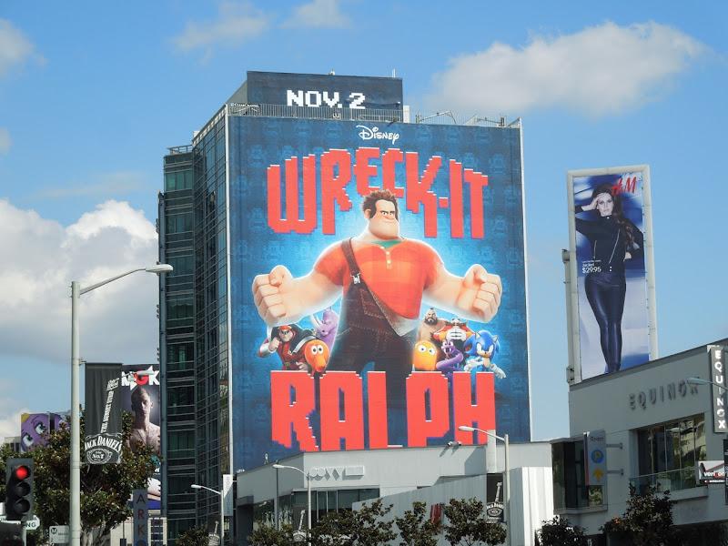 Giant Disney Wreck-It Ralph billboard