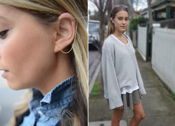 easy ways to wear ear cuffs