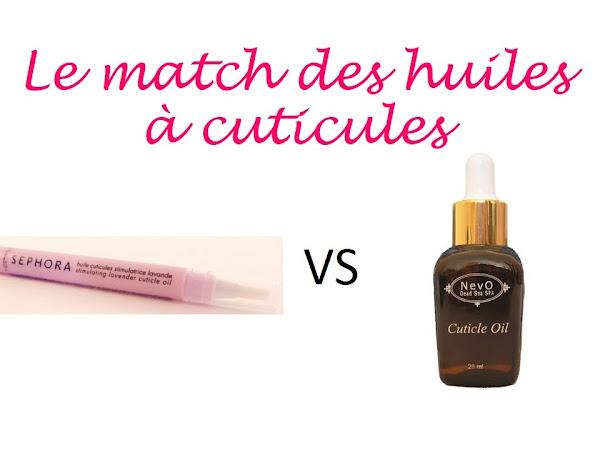 Le match des huiles à cuticules : Sephora VS Nevo